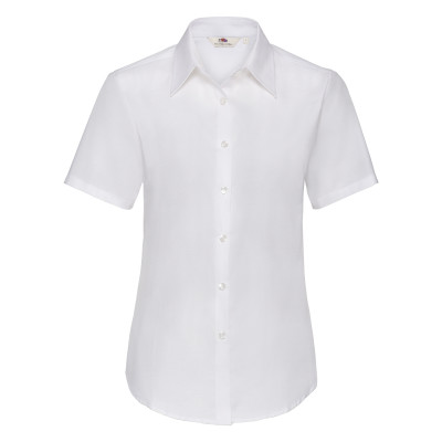 Lady-Fit Oxford Shirt S/S White