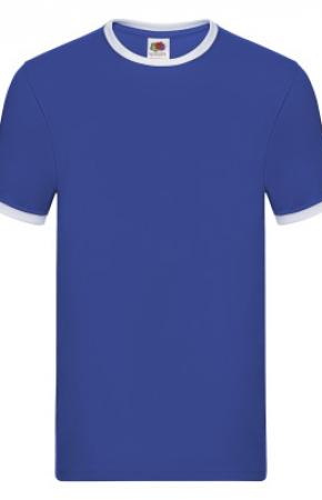 Ringer Tee Royal/White