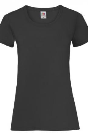 Lady-Fit Valueweight Tee Black