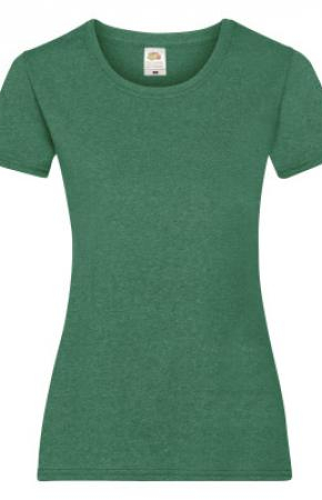 Lady-Fit Valueweight Tee Retro Heather Green