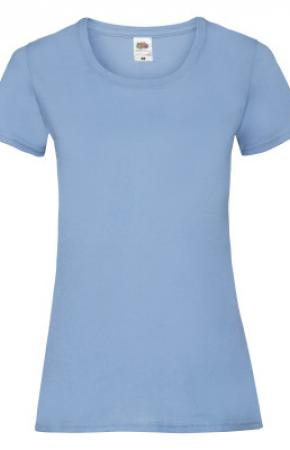 Lady-Fit Valueweight Tee New Sky Blue