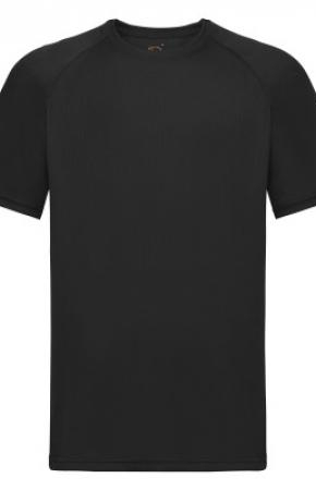 Mens Performance Tee T-Shirt Black