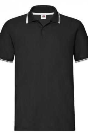 Premium Tipped Polo Black/Whte