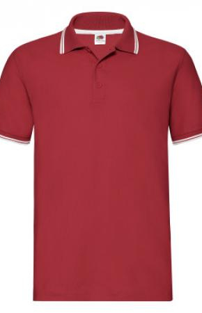 Premium Tipped Polo Polo Red/White