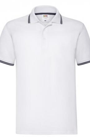 Premium Tipped Polo White/Deep Navy