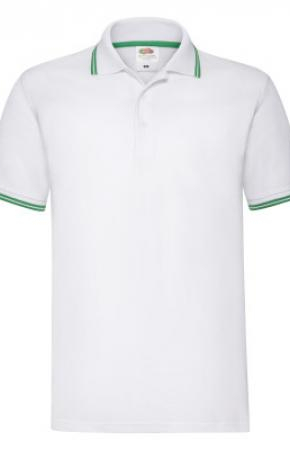 Premium Tipped Polo White/Kelly Green
