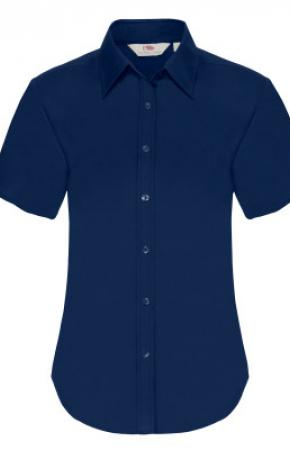 Lady-Fit Oxford Shirt S/S Navy