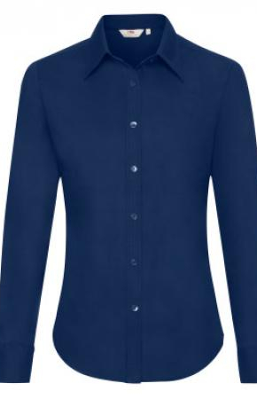 Lady-Fit Oxford Shirt L/S Navy