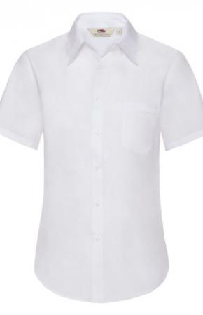 Lady-Fit Poplin Shirt S/S White