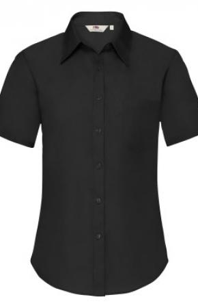 Lady-Fit Poplin Shirt S/S Black