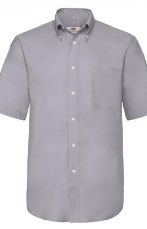 Mens Oxford Shirt S/S Oxford Grey