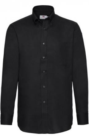 Mens Oxford Shirt L/S Black