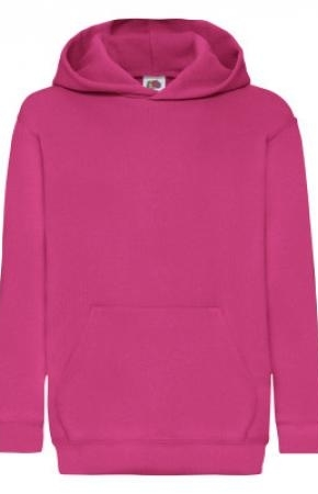 Kids Classic Hooded Swt Fuchsia