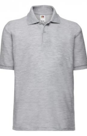Kids Polo 65:35 Heather Grey