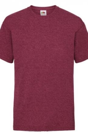 Kids Valueweight Tee Burgundy