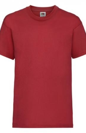 Kids Valueweight Tee Red 2-3 yrs